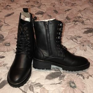 NWB Torrid Combat Boots With Silver Trim